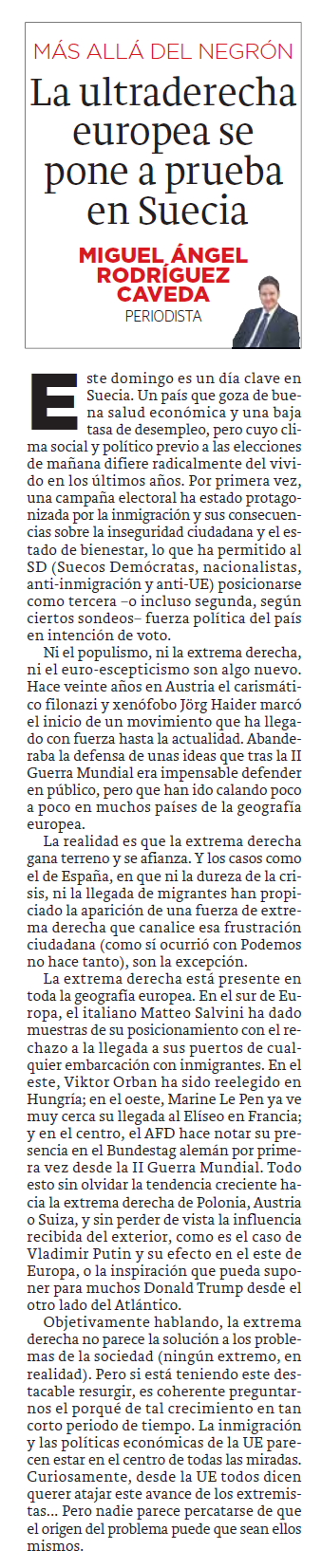 columna opinion Miguel Angel Rodriguez Caveda